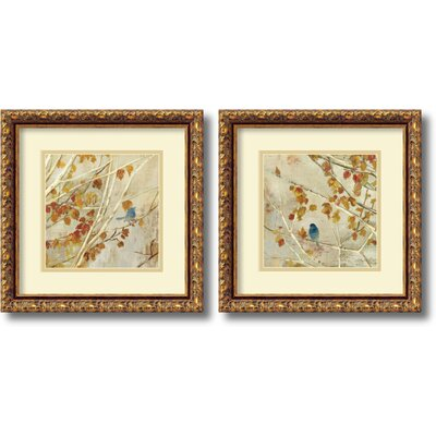 'Singing' 2 Piece Framed Painting Print Set