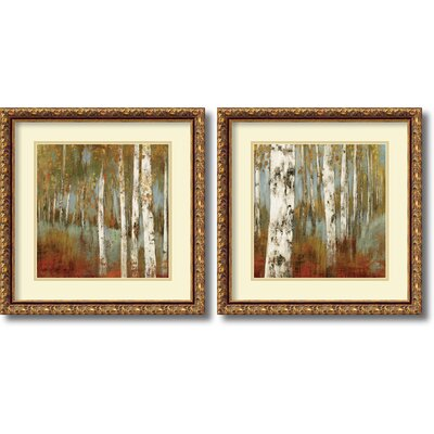 'Alongthe Path' 2 Piece Framed Painting Print Set