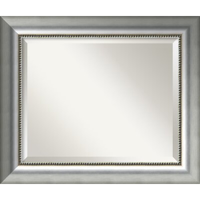 Finty Rectangle Burnished Silver Wall Mirror Size: 20.75'' H x 24.75'' W