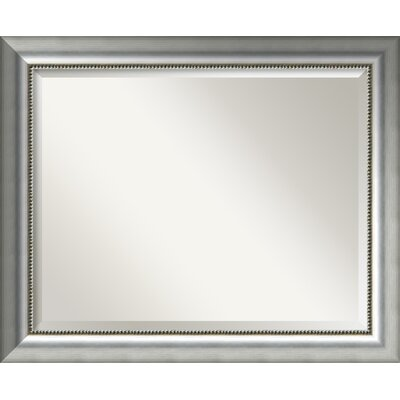 Finty Rectangle Burnished Silver Wall Mirror Size: 26.75'' H x 32.75'' W