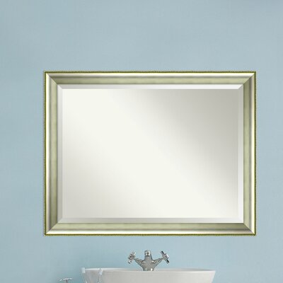 Rectangle Curved Bathroom Mirror Size: 35
