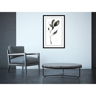 'Solitary Sumi-e I'Framed Print on Wood