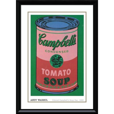 'Colored Campbell's Soup Can, 1965' Framed Vintage Advertisement on Wood