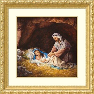 'Sleep in Heavenly Peace' Framed Print on Wood