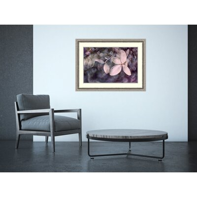 'Purple Hydrangea' Framed Photographic Print on Wood