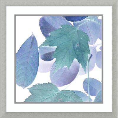'Xray Leaves III' Framed Acrylic Painting Print on Wood