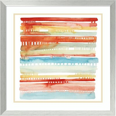 'Connected Lines I'Framed Print on Canvas