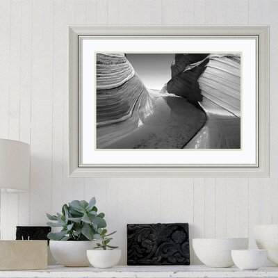 'Sandstone Formation' Framed Photographic Print on Wood