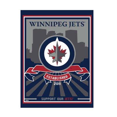 Winnipeg Jets Logo Graphic Art On Canvas Nhl Team: Winnipeg Jets - Skyline