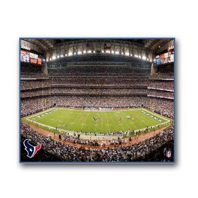 "Nfl Stadium Photographic Print On Canvas Size: 22"" X 28"", Nfl Team: Houston Texans"