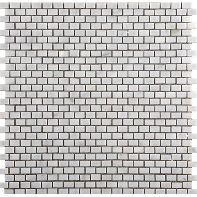 Marble .5 x .5/12 x 12 Mosaic Tile in Bianco Gioia
