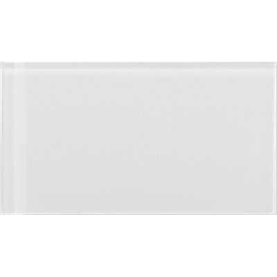 Lucente 3 x 6 Glass Subway Tile in Blanc