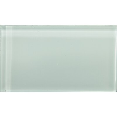 Lucente 3 x 6 Glass Subway Tile in Crystalline
