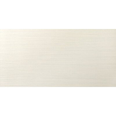 Strands 12 x 24 Porcelain Fabric Look/Field Tile in Pearl