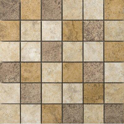 Toledo 2 x 2/13 x 13 Ceramic Mosaic Tile in Blend