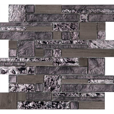 Vista 12 x 12 Glass Stone Blend Pattern Mosaic Tile in Reach