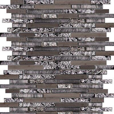 Lucente 12 x 13 Glass Stone Blend Linear Mosaic Tile in Reach