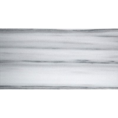 Metro 3 x 6 Marble Subway Tile in Vein Cut Honed White