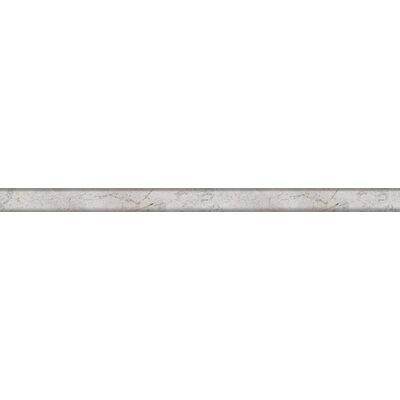 Marble 1/2 x 12 Mini Cigaro Tile in Gray