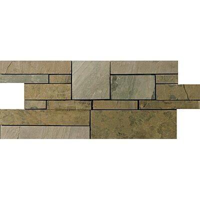 Slate Borgo Mosaic Tile in Rustic Gold