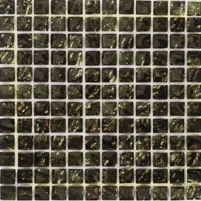 Vista 12 x 12 Glass Mosaic Tile in Green/Red