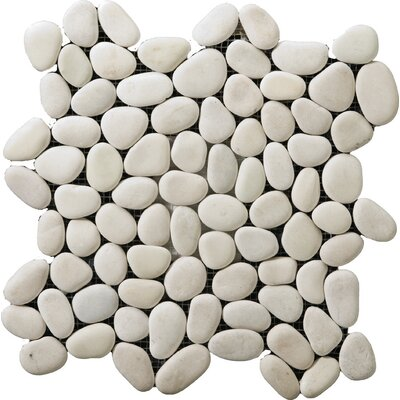 Venetian Pebbles 12 x 12 Mosaic Tile in Natural Texture Noce
