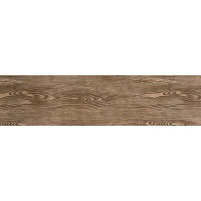 Alpine 6 x 36 Porcelain Wood-Look Plank Tile in Cafe