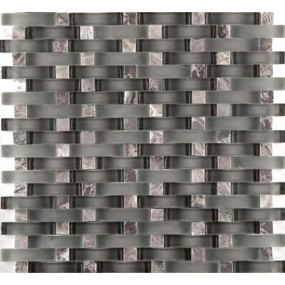 Lucente 12 x 13 Glass Stone Blend Wave Mosaic Tile in Concordia