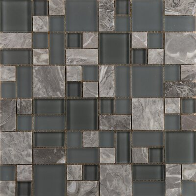 Lucente 13 x 13 Glass Stone Blend Pattern Mosaic Tile in Concordia