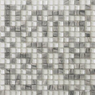 Lucente 0.6 x 0.6/12 x 12 Glass Stone Blend Mosaic Tile in Grazia
