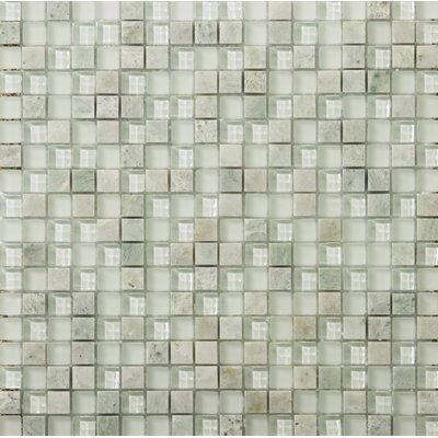 Lucente .6 x .6/12 x 12 Glass Stone Blend Mosaic Tile in Lazzaro