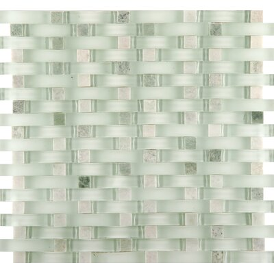 Lucente 12 x 13 Glass Stone Blend Wave Mosaic Tile in Lazzaro