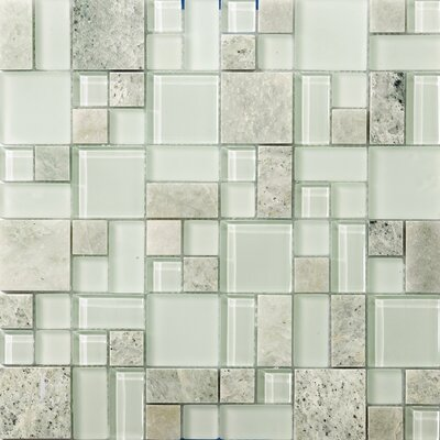 Lucente 13 x 13 Glass Stone Blend Pattern Mosaic Tile in Lazzaro