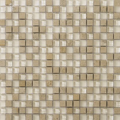 Lucente .6 x .6/12 x 12 Glass Stone Blend Mosaic Tile in Lido