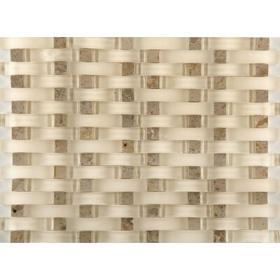 Lucente 12 x 13 Glass Stone Blend Wave Mosaic Tile in Lido