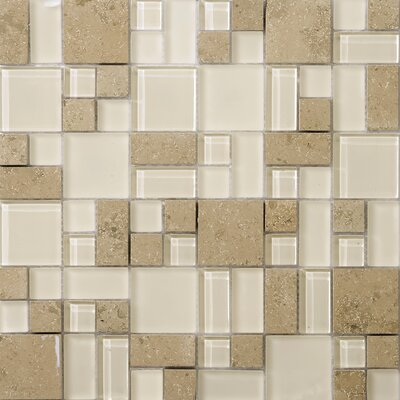 Lucente 13 x 13 Glass Stone Blend Pattern Mosaic Tile in Lido