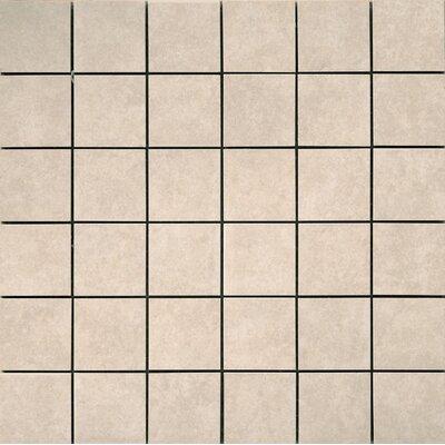 Pacific 2 x 2/13 x 13 Ceramic Mosaic Tile in Cream