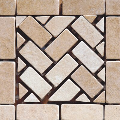 Pacific Random 4 x 4 Ceramic Mosaic Tile in Beige