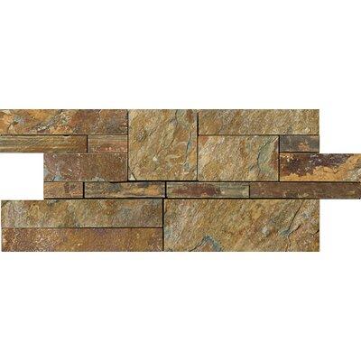 Random Sized Slate Mosaic Tile in Earth