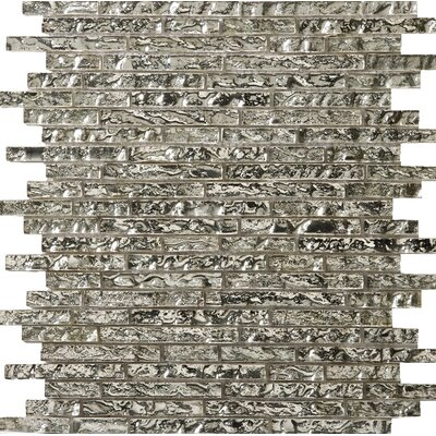 Vista 12 x 13 Glass Linear Mosaic Tile in Arte