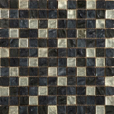 Vista 12 x 12 Glass Mosaic Tile in Black/Gray
