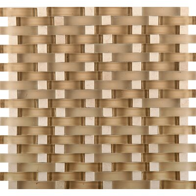 Lucente 12 x 13 Glass Stone Blend Wave Mosaic Tile in Murano