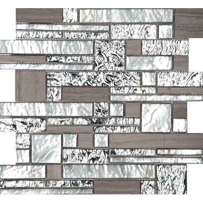 Vista 12 x 12 Glass Stone Blend Pattern Mosaic Tile in Panorama
