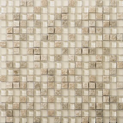 Lucente .6 x .6/12 x 12 Glass Stone Blend Mosaic Tile in Servolo