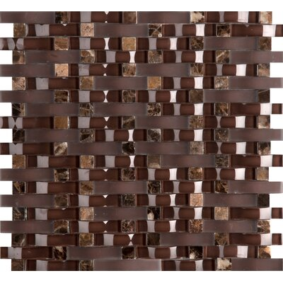 Lucente 12 x 13 Glass Stone Blend Wave Mosaic Tile in Vetro