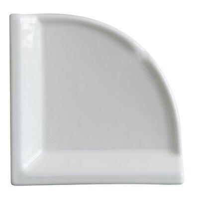 Semplice 8 x 8 Ceramic Corner Shelf Tile Trim in Glossy White
