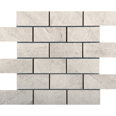 Eurasia 2 x 4/13 x 13 Porcelain Mosaic Tile in Bianco