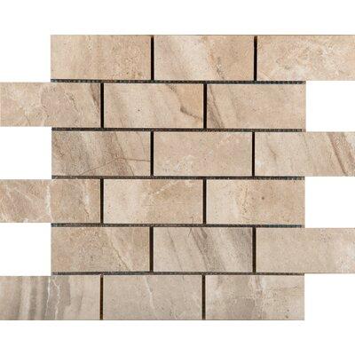 Eurasia 2 x 4/13 x 13 Porcelain Mosaic Tile in Chiara