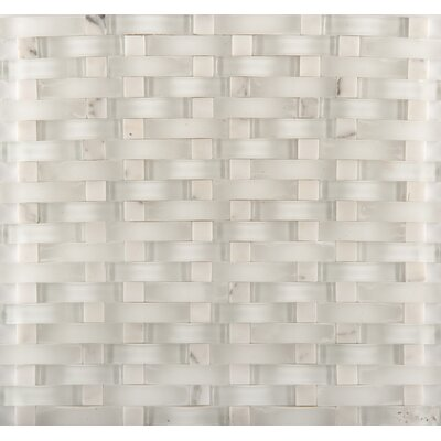 Lucente 12 x 13 Glass Stone Blend Wave Mosaic Tile in Andrea
