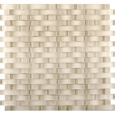 Lucente 12 x 13 Glass Stone Blend Wave Mosaic Tile in Campo
